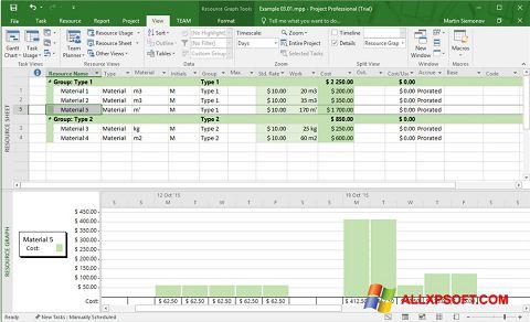 Screenshot Microsoft Project für Windows XP