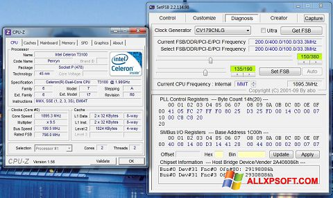 Screenshot SetFSB für Windows XP