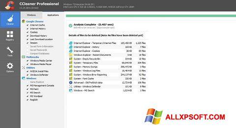 Screenshot CCleaner Professional Plus für Windows XP