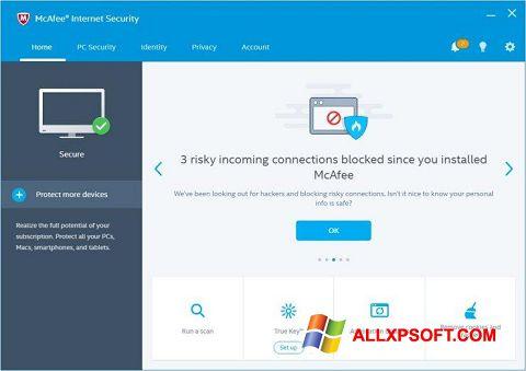 Screenshot McAfee Internet Security für Windows XP
