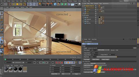 Screenshot CINEMA 4D für Windows XP