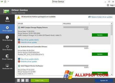 Screenshot Driver Genius für Windows XP