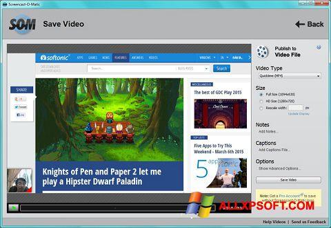 Screenshot Screencast-O-Matic für Windows XP