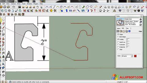 Screenshot SketchUp für Windows XP