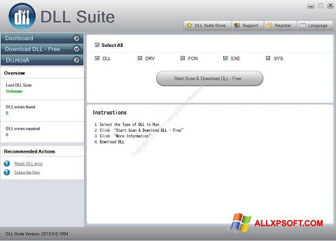 Screenshot DLL Suite für Windows XP