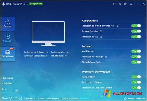 Screenshot Baidu Antivirus für Windows XP