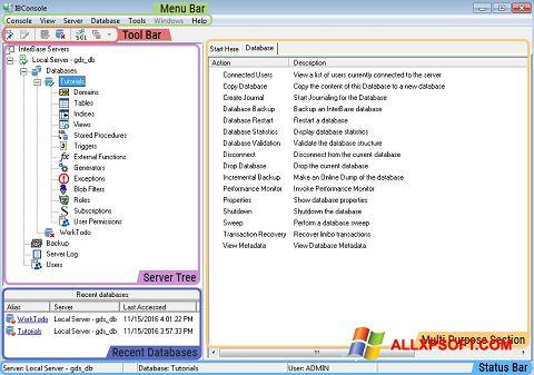 Screenshot InterBase für Windows XP