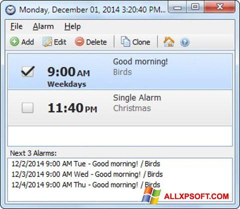 Screenshot Free Alarm Clock für Windows XP