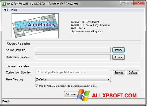 Screenshot AutoHotkey für Windows XP