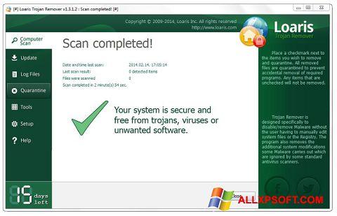 Screenshot Loaris Trojan Remover für Windows XP