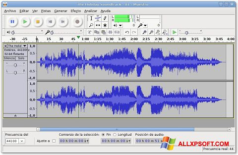 Screenshot Audacity für Windows XP