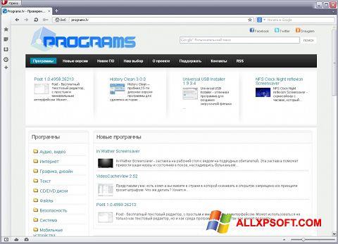 Screenshot Opera USB für Windows XP