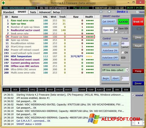 Screenshot Victoria für Windows XP