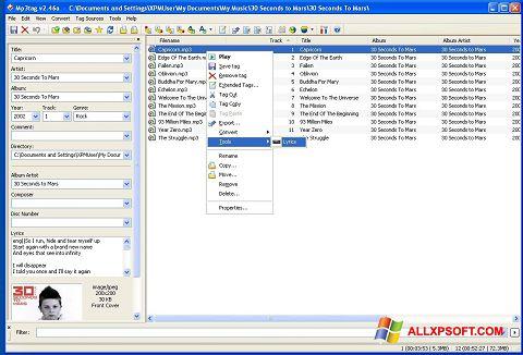 Screenshot Mp3tag für Windows XP