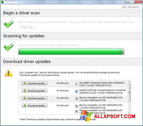 Screenshot Device Doctor für Windows XP