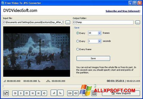 Screenshot Free Video to JPG Converter für Windows XP