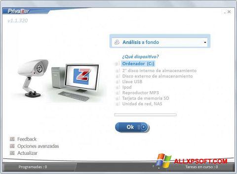Screenshot PrivaZer für Windows XP
