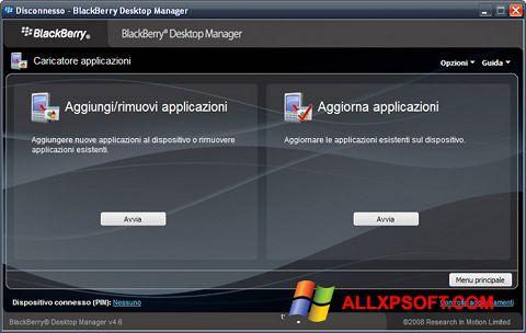 Screenshot BlackBerry Desktop Manager für Windows XP