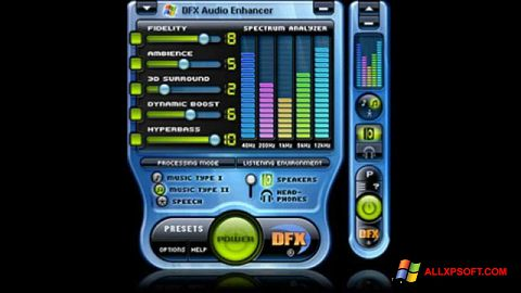 Screenshot DFX Audio Enhancer für Windows XP