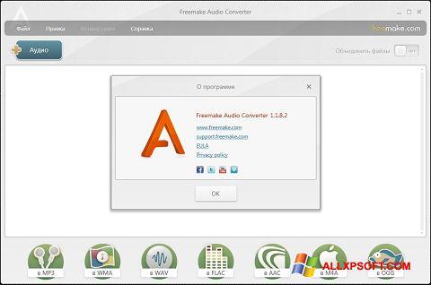 Screenshot Freemake Audio Converter für Windows XP