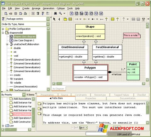 Screenshot ArgoUML für Windows XP