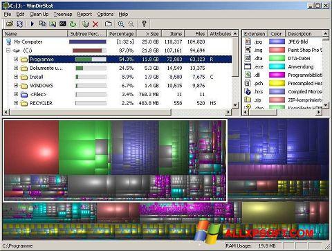Screenshot WinDirStat für Windows XP