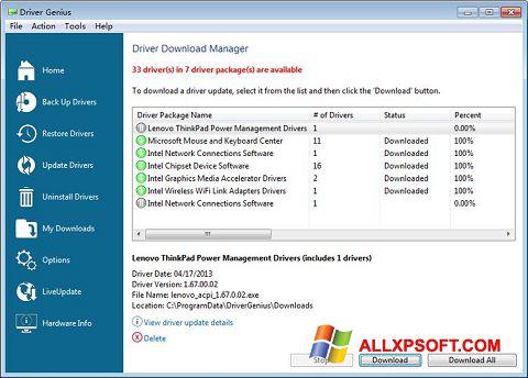 Screenshot Driver Genius Professional für Windows XP