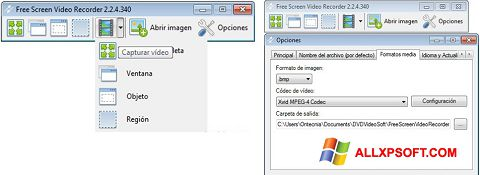 Screenshot Free Screen Video Recorder für Windows XP
