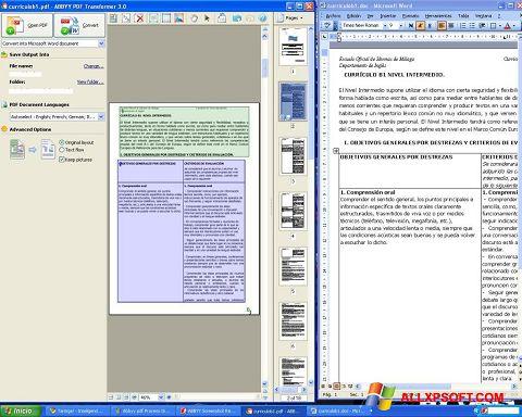 Screenshot ABBYY PDF Transformer für Windows XP