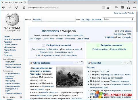 Screenshot Microsoft Edge für Windows XP