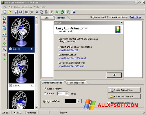 Screenshot Easy GIF Animator für Windows XP