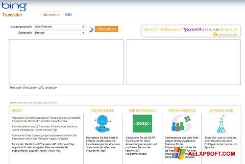Screenshot Bing Translator für Windows XP