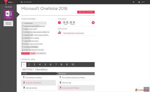 Screenshot Microsoft OneNote für Windows XP