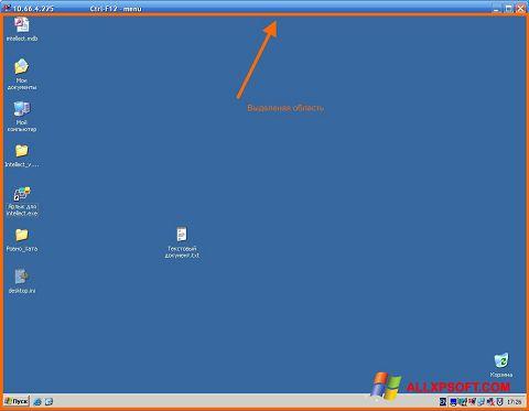 Screenshot Radmin für Windows XP