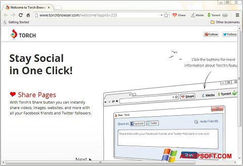 Screenshot Torch Browser für Windows XP