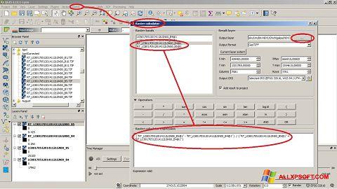 Screenshot QGIS für Windows XP