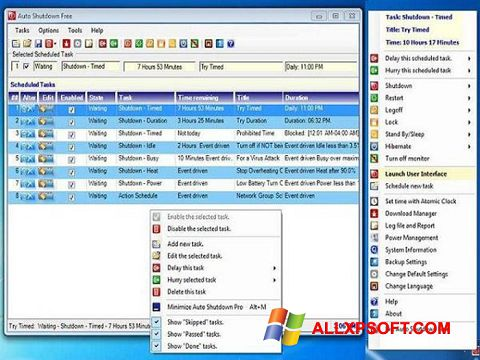 Screenshot Auto ShutDown für Windows XP
