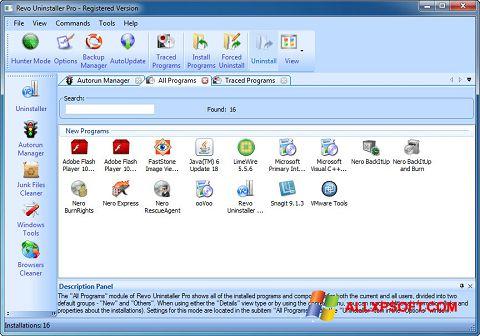 Screenshot Revo Uninstaller Pro für Windows XP